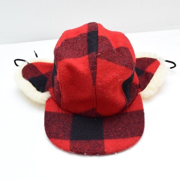 f9681d2c603 Filson Double Mackinaw Cap Red Black Plaid XS